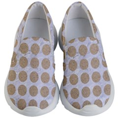 Circles1 White Marble & Sand (r) Kid s Lightweight Slip Ons by trendistuff