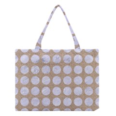 Circles1 White Marble & Sand Medium Tote Bag by trendistuff