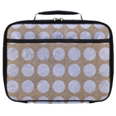 Circles1 White Marble & Sand Full Print Lunch Bag by trendistuff