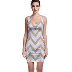 Chevron9 White Marble & Sand (r) Bodycon Dress by trendistuff