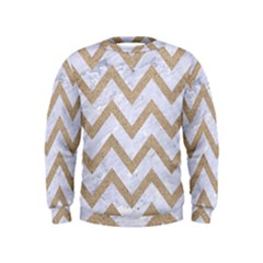 Chevron9 White Marble & Sand (r) Kids  Sweatshirt by trendistuff