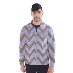 Chevron9 White Marble & Sand (r) Wind Breaker (men) by trendistuff