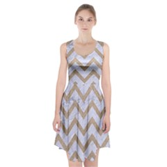 Chevron9 White Marble & Sand (r) Racerback Midi Dress by trendistuff