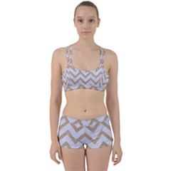 Chevron9 White Marble & Sand (r) Women s Sports Set by trendistuff