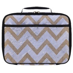 Chevron9 White Marble & Sand (r) Full Print Lunch Bag by trendistuff