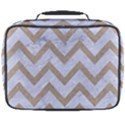 CHEVRON9 WHITE MARBLE & SAND (R) Full Print Lunch Bag View2