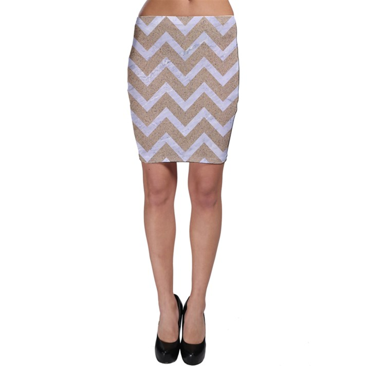 CHEVRON9 WHITE MARBLE & SAND Bodycon Skirt