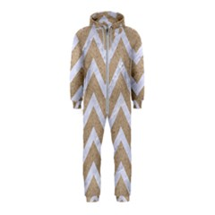 Chevron9 White Marble & Sand Hooded Jumpsuit (kids) by trendistuff