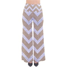 Chevron9 White Marble & Sand Pants