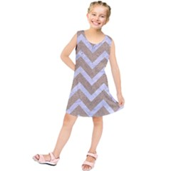 Chevron9 White Marble & Sand Kids  Tunic Dress by trendistuff