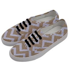 Chevron9 White Marble & Sand Men s Classic Low Top Sneakers by trendistuff