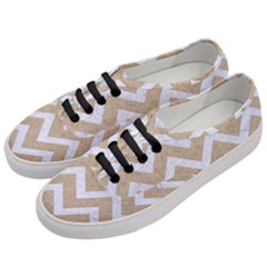 Chevron9 White Marble & Sand Women s Classic Low Top Sneakers by trendistuff
