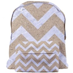 Chevron9 White Marble & Sand Giant Full Print Backpack by trendistuff