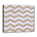 CHEVRON3 WHITE MARBLE & SAND Deluxe Canvas 24  x 20   View1