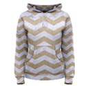 CHEVRON3 WHITE MARBLE & SAND Women s Pullover Hoodie View1