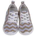 CHEVRON3 WHITE MARBLE & SAND Kids  Lightweight Sports Shoes View1