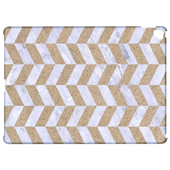 CHEVRON1 WHITE MARBLE & SAND Apple iPad Pro 12.9   Hardshell Case