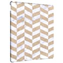 CHEVRON1 WHITE MARBLE & SAND Apple iPad Pro 12.9   Hardshell Case View2