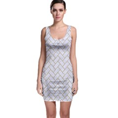 Brick2 White Marble & Sand (r) Bodycon Dress by trendistuff