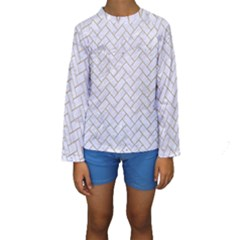 Brick2 White Marble & Sand (r) Kids  Long Sleeve Swimwear by trendistuff