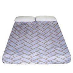 Brick2 White Marble & Sand (r) Fitted Sheet (california King Size) by trendistuff