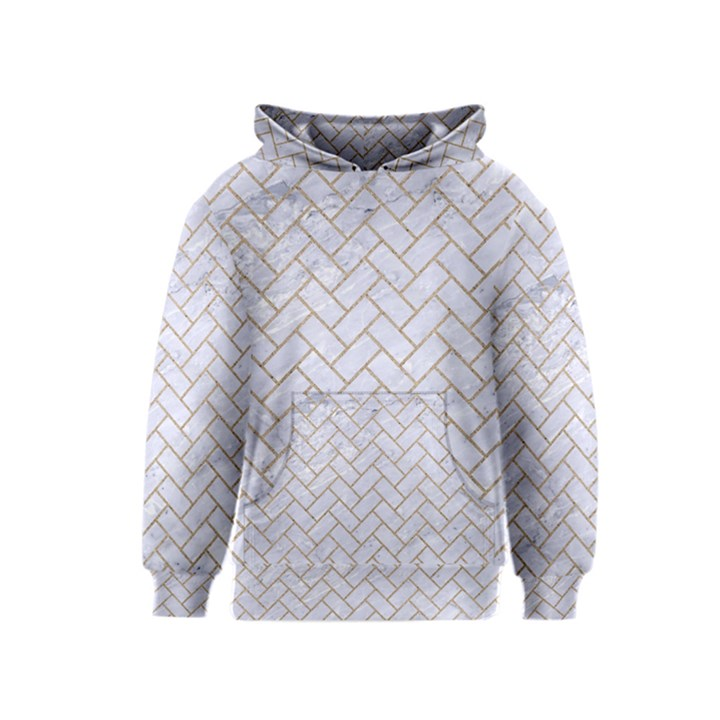 BRICK2 WHITE MARBLE & SAND (R) Kids  Pullover Hoodie