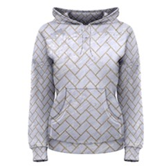 BRICK2 WHITE MARBLE & SAND (R) Women s Pullover Hoodie