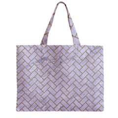 Brick2 White Marble & Sand (r) Zipper Mini Tote Bag by trendistuff