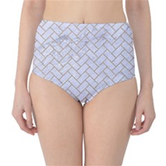 Brick2 White Marble & Sand (r) High Waist Bikini Bottoms by trendistuff