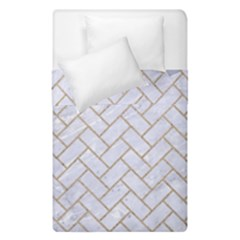 BRICK2 WHITE MARBLE & SAND (R) Duvet Cover Double Side (Single Size)