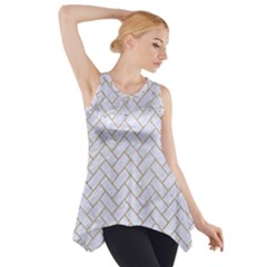 Brick2 White Marble & Sand (r) Side Drop Tank Tunic by trendistuff