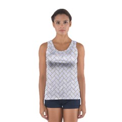 BRICK2 WHITE MARBLE & SAND (R) Sport Tank Top