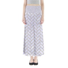 Brick2 White Marble & Sand (r) Full Length Maxi Skirt by trendistuff