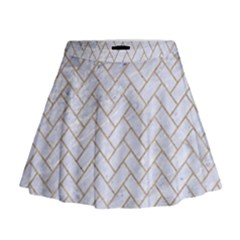 Brick2 White Marble & Sand (r) Mini Flare Skirt by trendistuff