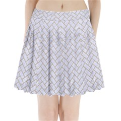 Brick2 White Marble & Sand (r) Pleated Mini Skirt by trendistuff