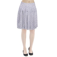 BRICK2 WHITE MARBLE & SAND (R) Pleated Skirt