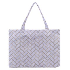 Brick2 White Marble & Sand (r) Zipper Medium Tote Bag by trendistuff