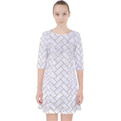 Brick2 White Marble & Sand (r) Pocket Dress by trendistuff