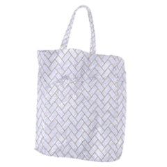 Brick2 White Marble & Sand (r) Giant Grocery Zipper Tote by trendistuff