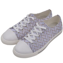 Brick2 White Marble & Sand (r) Women s Low Top Canvas Sneakers by trendistuff