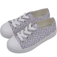 Brick2 White Marble & Sand (r) Kids  Low Top Canvas Sneakers by trendistuff