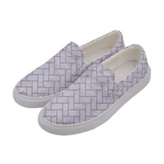Brick2 White Marble & Sand (r) Women s Canvas Slip Ons by trendistuff