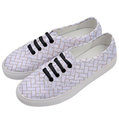 Brick2 White Marble & Sand (r) Women s Classic Low Top Sneakers by trendistuff