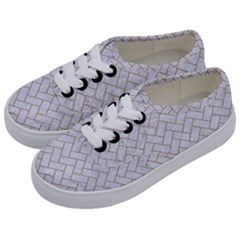 Brick2 White Marble & Sand (r) Kids  Classic Low Top Sneakers by trendistuff