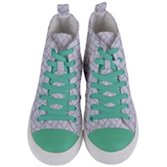 Brick2 White Marble & Sand (r) Women s Mid Top Canvas Sneakers