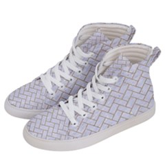 Brick2 White Marble & Sand (r) Men s Hi Top Skate Sneakers by trendistuff