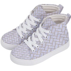 Brick2 White Marble & Sand (r) Kid s Hi Top Skate Sneakers by trendistuff