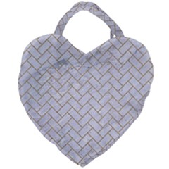 Brick2 White Marble & Sand (r) Giant Heart Shaped Tote by trendistuff