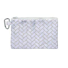 BRICK2 WHITE MARBLE & SAND (R) Canvas Cosmetic Bag (Medium)