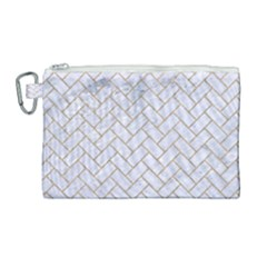 Brick2 White Marble & Sand (r) Canvas Cosmetic Bag (large) by trendistuff